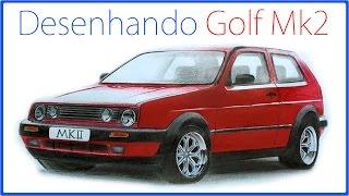 Desenhando Golf Mk2 - Desenho realista