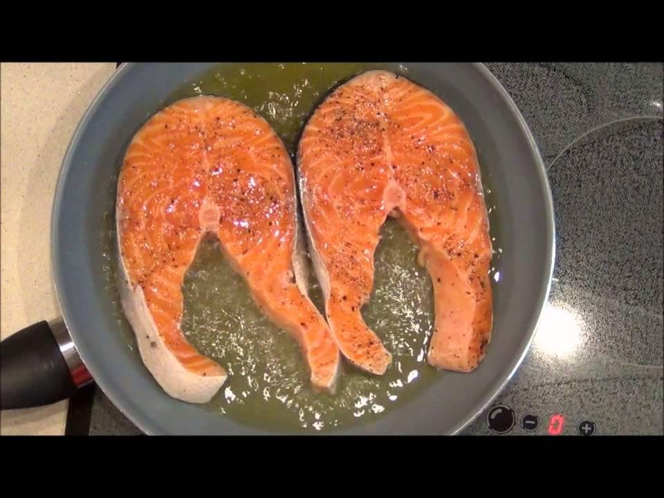 стейк из лосося рецепт с фото на сковороде