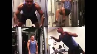 شاهد.. عمرو دياب يمارس تمارين رياضية في يوم ميلاده