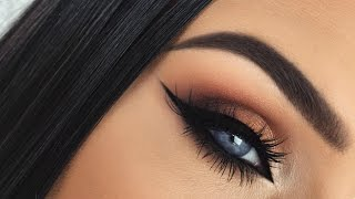 autumn leaves   burnt orange smokey fall eye makeup tutorial