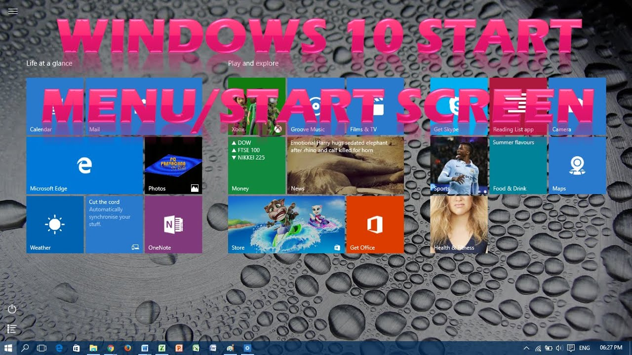 Enable/Disable Full Screen Start Menu in Windows 10 - YouTube
