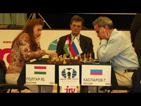 Judit Polgar le GANA a Garry Kasparov - Gran Maestro Ajedrez Torneo