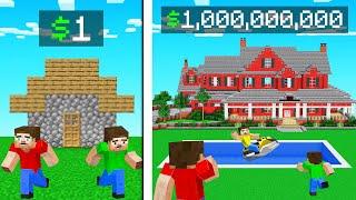 $1 BILLION DOLLAR MANŠION vs NOOB HOUSE! (Minecraft)