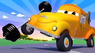 Amber the Ambulance -  Tom The Tow Truck Throws His Back Out! - One Zeez & Car City ! Trucks Cartoon