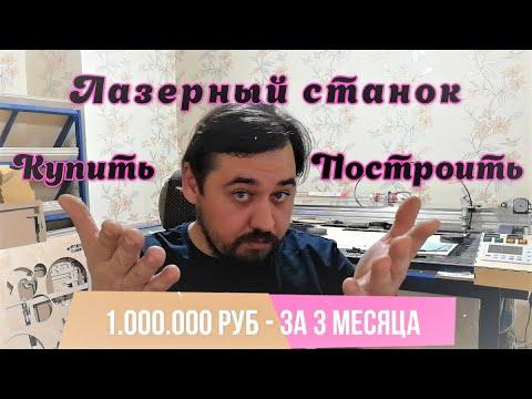 Про тот самый зароботок 1000000 рублей. Построить лазерный станок самому или купить готовый.