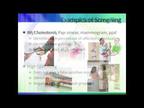Screening vs diagnostic tests