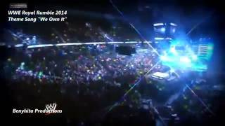 WWE Royal Rumble 2014 Official Theme Song We Own It Wiz khalifa Ft  2 chainz 1080p HQ