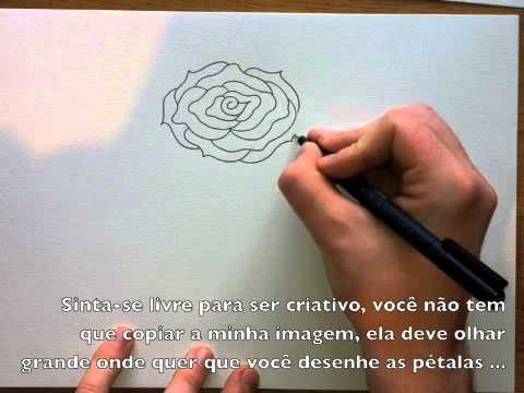 como desenhar uma rosa fácil passo a passo youtube
