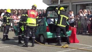 Congrès départemental des pompiers mosellans, Dieuze, désincarcération