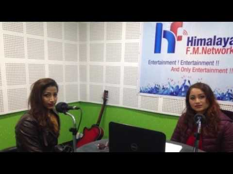 Sarika Ghimire (Parinaam) With Sushma KC Shrestha in Filmy Chat@ Himalaya Fm Network