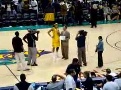 Candace Parker First Sparks Home Game Post-Game Interview