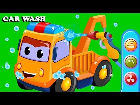 Tow Truck Car Wash   Cartoon Videos For Babies by Kids Channel