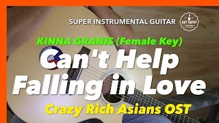 Gambar cover Cant Help Falling in Love Crazy Rich Asians OST Instrumental guitar karaoke version with lyrics