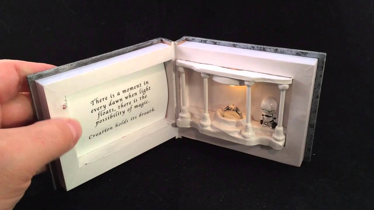 Hitchhikers guide to the galaxy custom engagement ring box for Cute engagement ring boxes