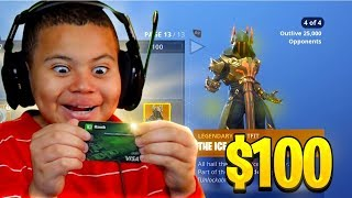 Kid Spends $100 On Season 7 *MAX* Battle Pass With Brother's Credit Card (Fortnite) | MindOfRez