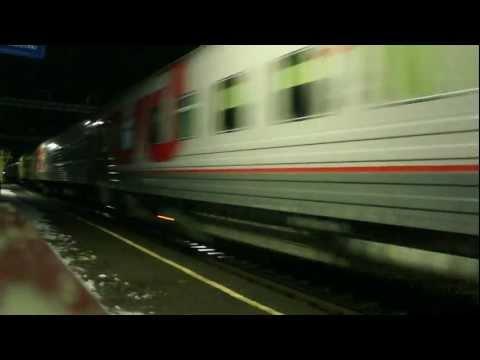 ЧС2т-1035 с поездом №16 Арктика Москва-Мурманск 100 км/ч