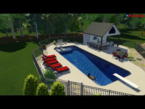 Merton, WI -Rectangle Pool with Custom Sunshelf