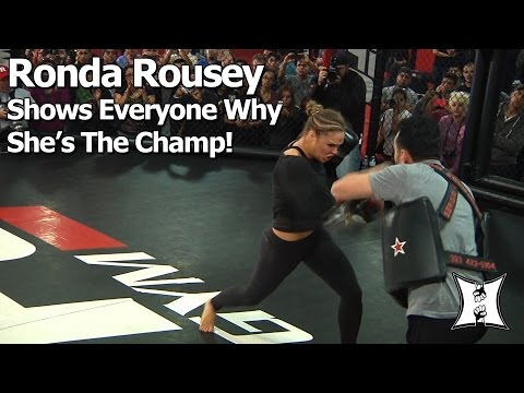 UFC 184: Champ Ronda Rousey 25min+ Workout Before Title Fight With Cat Zingano (Complete/Unedited)