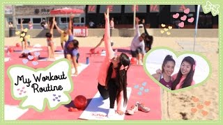 My Favorite Workout & Tips To Make It Even Better! With Blogilates & Maria Menounos! #livlogs