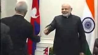 PM Narendra Modi meets PM of Nepal Sushil Koirala -2016