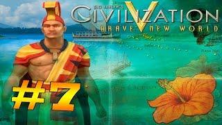 Прохождение игры Sid Meier's Civilization V (За Полинезию) #7: Вторая великая война(еле отстояли)