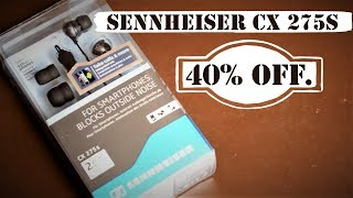 Best Earphones | Sennheiser CX 275s with Mic | Unboxing | Review