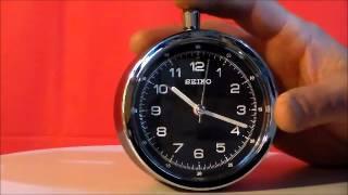 Seiko Hecla Qhe088klh Alarm Clock Non Ticking