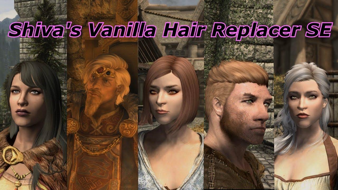 Skyrim SE mod showcase 1 - Shiva's Vanilla Hair Replacer SE