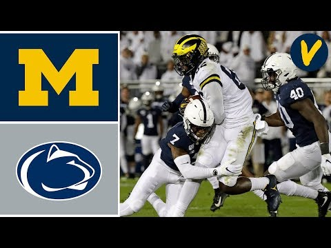 #16 Michigan vs #7 Penn State Highlights | Week 8 | College Football Highlights