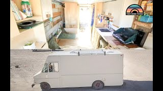 BREAD TRUCK Converted Into Gorgeous STEALTH Tiny Home On Wheels