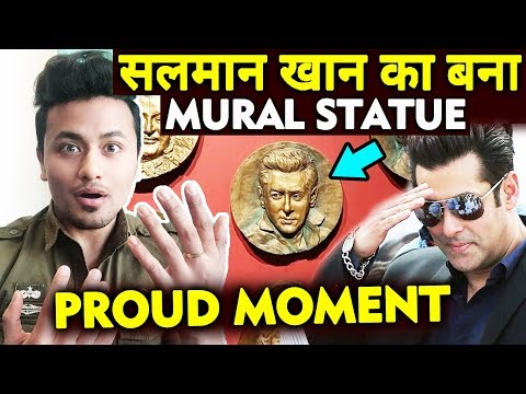 National Museum Of Indian Cinema में Salman Khan का  Mural Statue