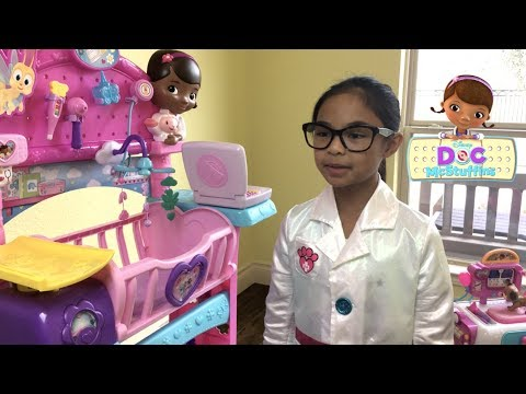 Disney Doc McStuffins Toy Hospital Care Cart with Spots & Holly | Toys Academy