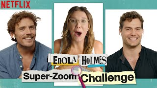 Zoomed-In Challenge with Millie Bobby Brown, Henry Cavill, + Sam Claflin | Enola Holmes