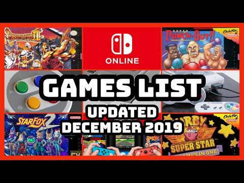 Nintendo Switch Online SNES Games List December 2019