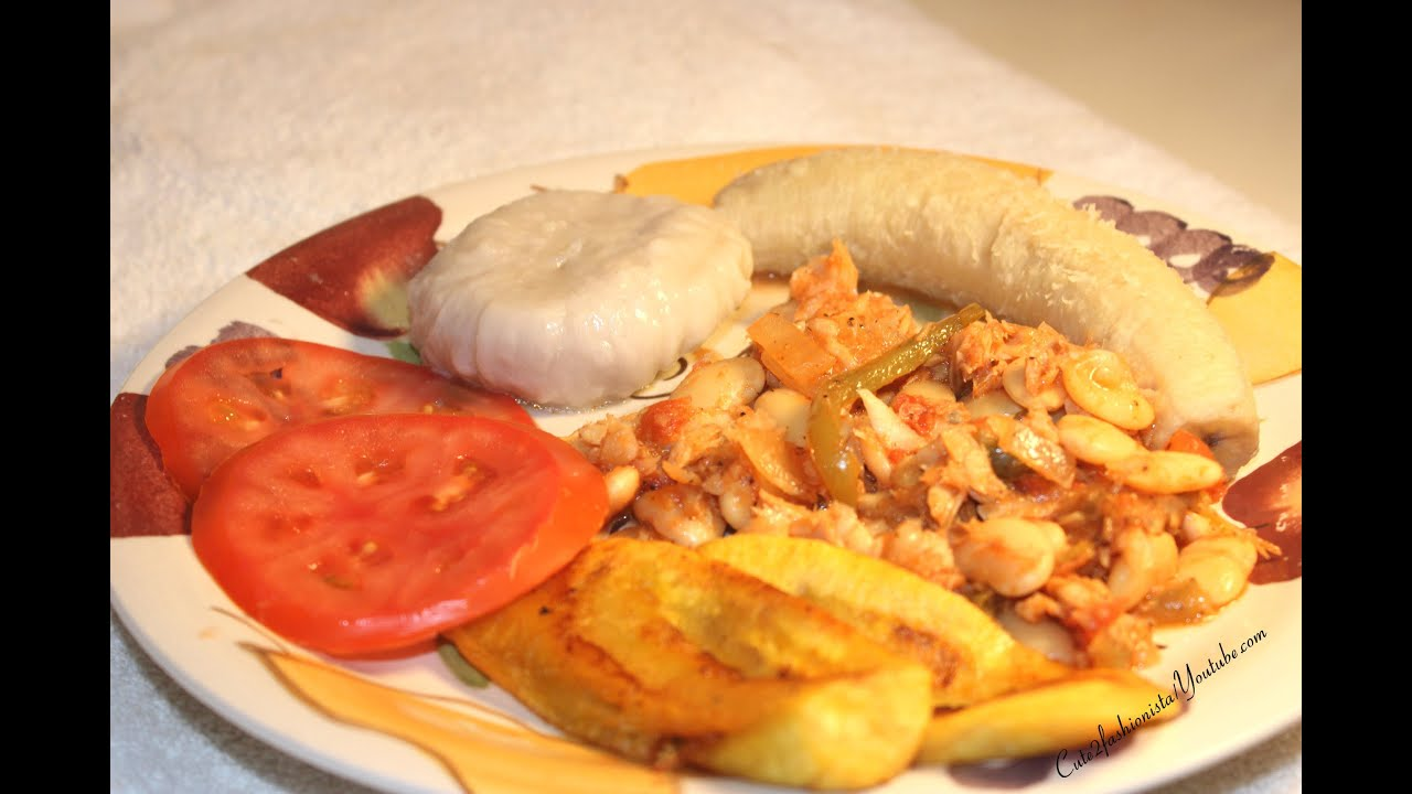 Jamaican salt fish and butter beans with jamaican green for Jamaican butter fish