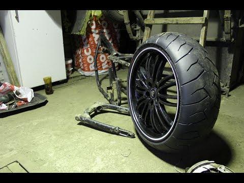 Широкое колесо на мотоцикл урал своими руками