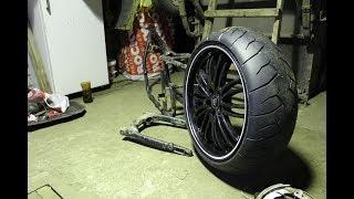 как сделать широкое заднее колесо на урал