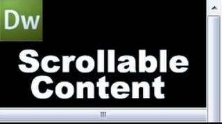 Dreamweaver Tutorial: Create Scrollable Content! -hd-