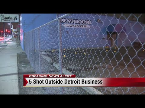 5 shot outside Penthouse Lounge in Detroit