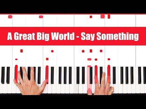 Say Something A Great Big World Christina Aguilera Piano Tutorial - EASY