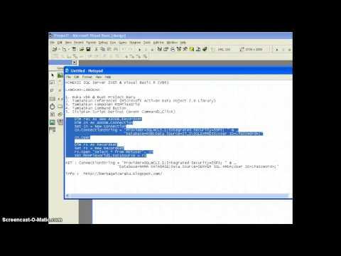 Cara Koneksi Codeigniter Dengan Sql Server