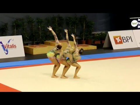 Acrobatic Gymnastics MIAC 2016 Junior W3 Bal GBR