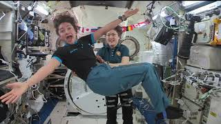 Christina Koch and Jessica Meir in-flight interviews from ISS