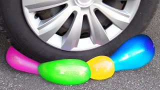 Crushing Crunchy & Soft Things by Car! EXPERIMENT Car vs SLIME, COLA CAR TOYS