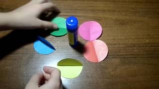 объёмный шар на ёлку из цветной бумаги