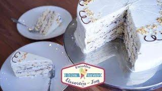 Eissplittertorte - klassische Eissplitter Torte mit Rum, Krokant & Baisserböden - Kfl