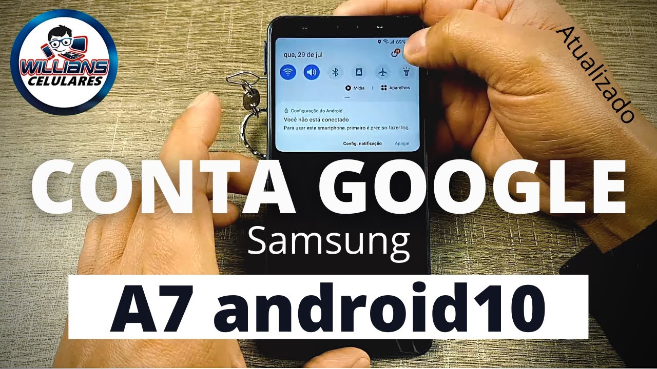 Conta Google Samsung A7 A750 Android 10 New Patch!