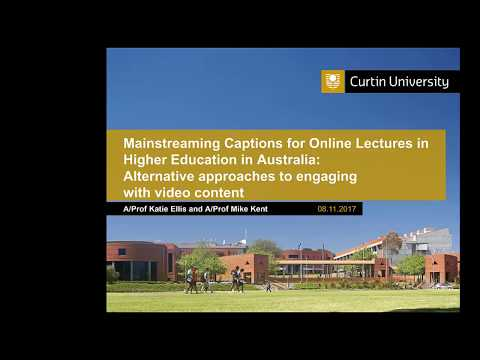 Mainstreaming Captions for Online Lectures in Higher Education in Australia