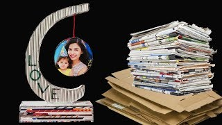 Newspaper Showpiece Photo Frame DIY Craft Idea LifeStyle Designs