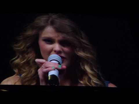 Taylor Swift gets emotional - Dallas, TX...